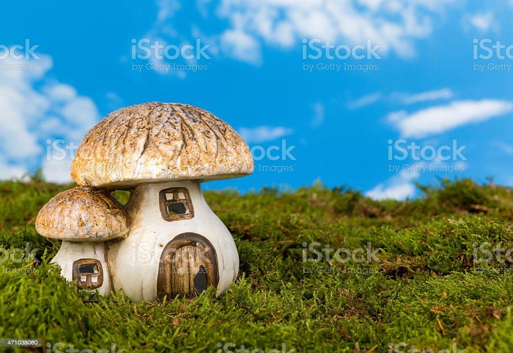 Miniature gnome house stock photo