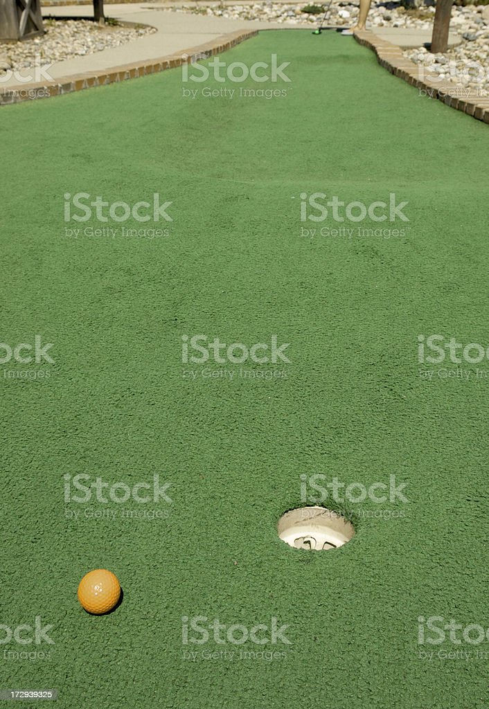 Miniature Golf Close Call royalty-free stock photo