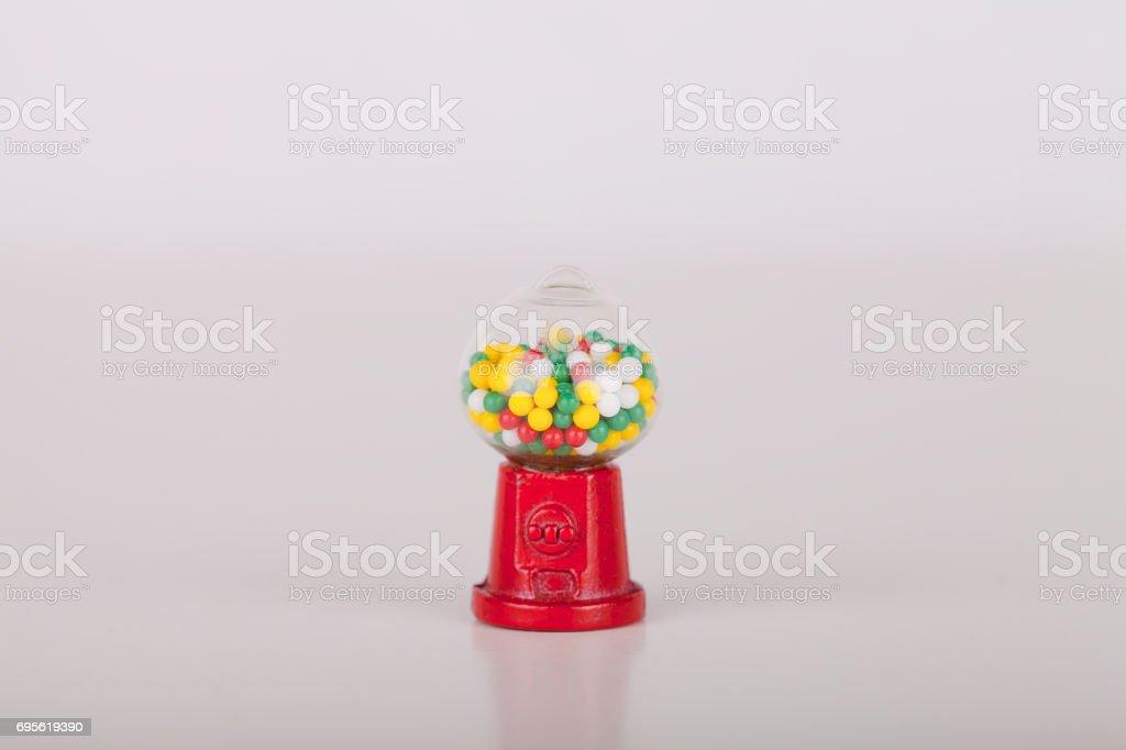 Miniature gumball machine stock photo