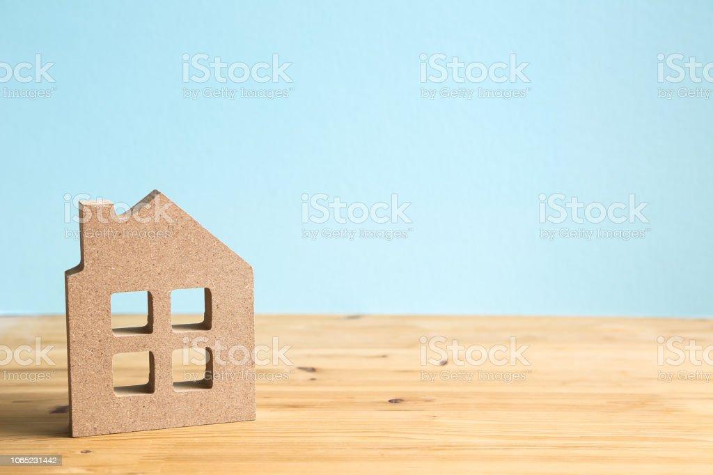 Miniature house model, Real estate concept stock photo