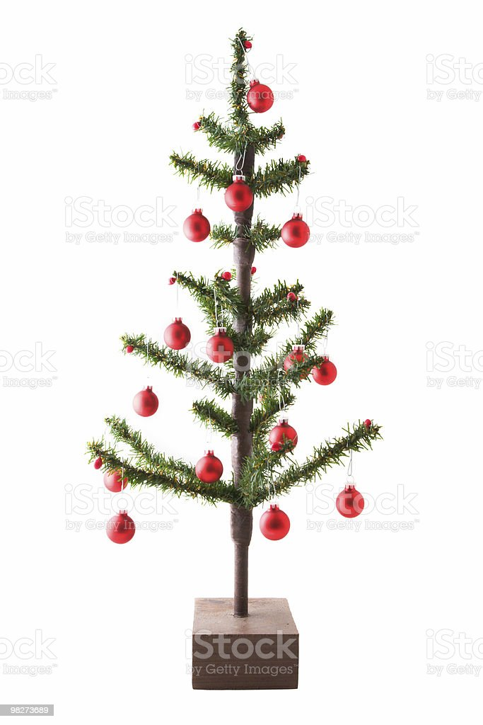 Miniature Isolated Christmas Tree, Decorated royalty-free stock photo
