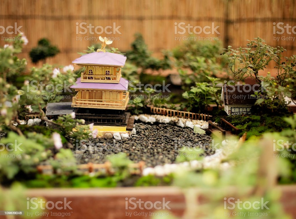 Miniature Japanese Bonsai Garden Royalty Free Stock Photo
