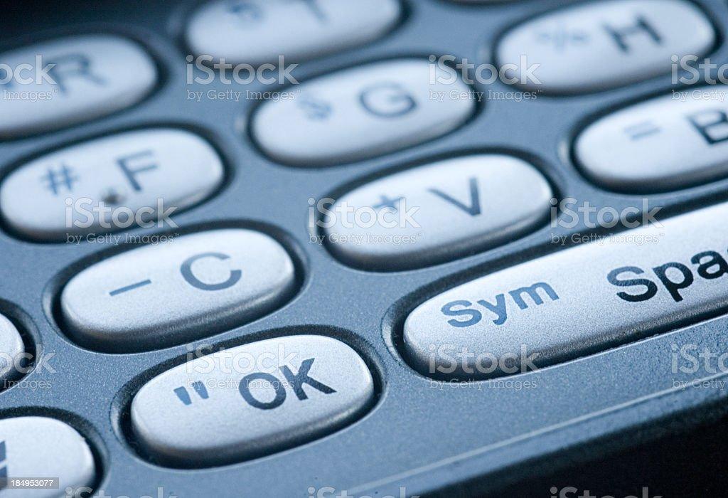 Miniature Keyboard Macro royalty-free stock photo