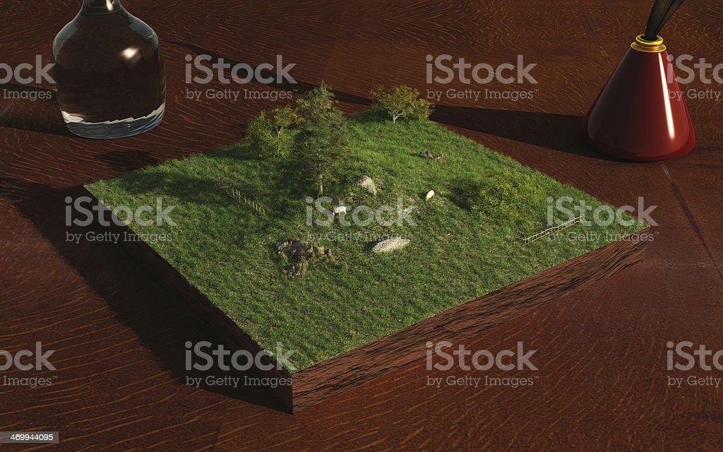 Miniature Landscape stock photo