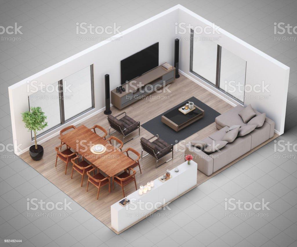 Miniature Living Room stock photo