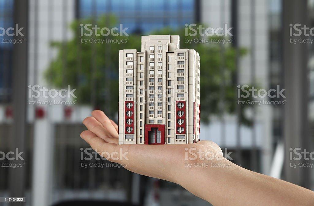 Miniature model building royalty-free stock photo