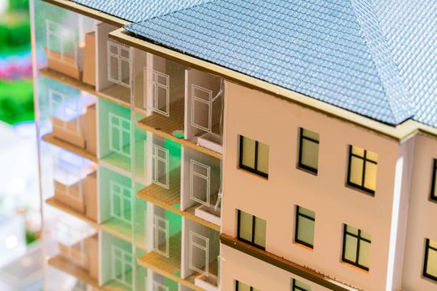 miniatur-modellhaus - herrenhaus grundrisse stock-fotos und bilder