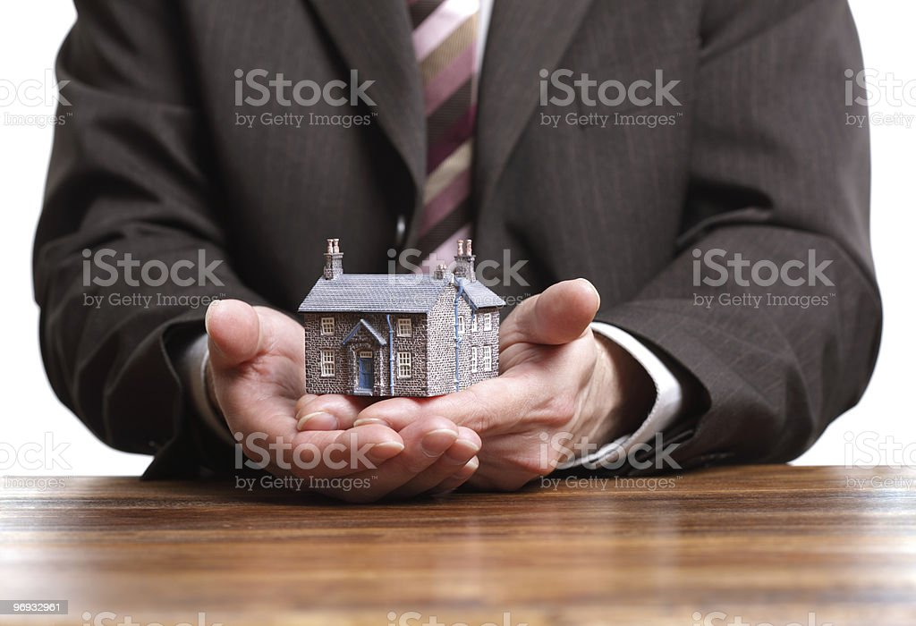 Miniature model house - real estate concept royalty-free stock photo