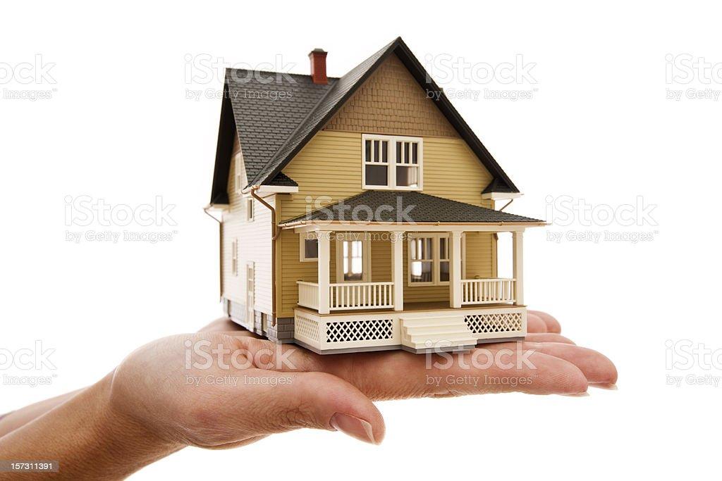 Miniature model house series stock photo