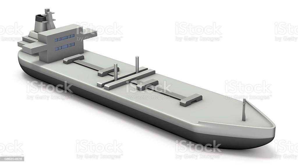 Miniature model of the tanker. stock photo