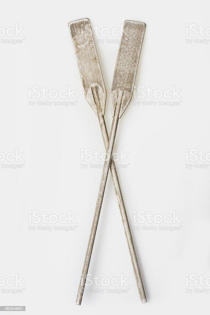 Miniature oars stock photo
