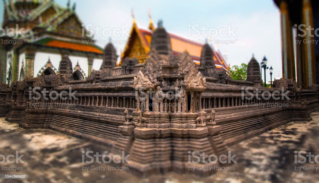 Miniatuur van Angkor Wat Phra Thep bidon kasteel binnen Wat Phra Kaew foto