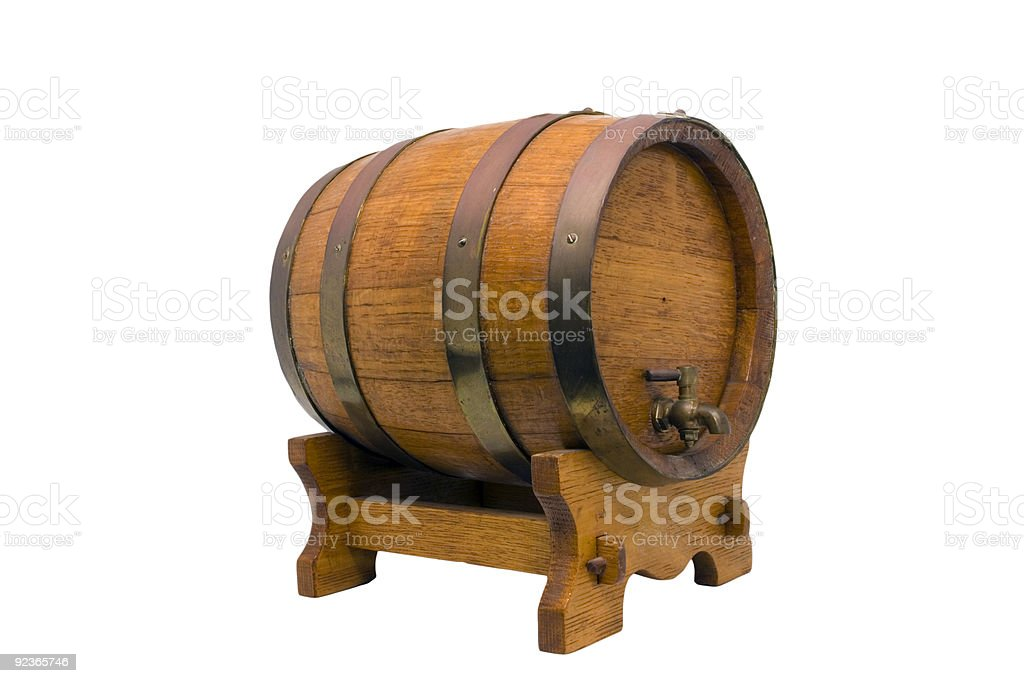 Miniature ornamental wine barrel royalty-free stock photo