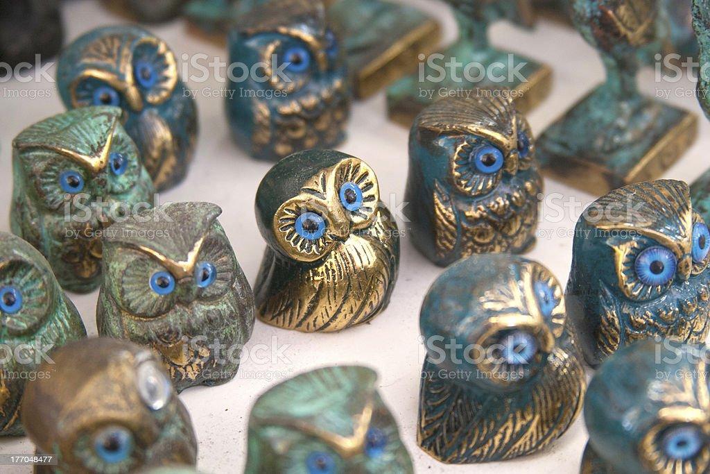 Miniature Owl Figurine royalty-free stock photo
