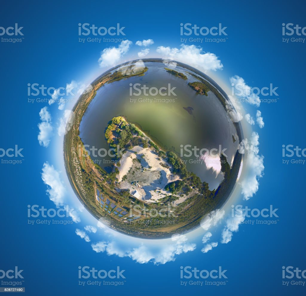 Miniature planet stock photo