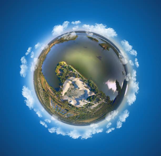 Miniature planet stock photo