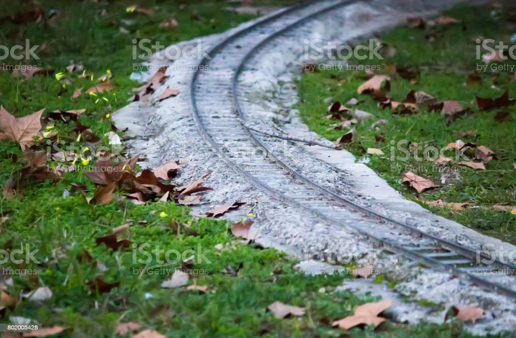 Miniature Rail Way In The Park Stock Photo - Download Image