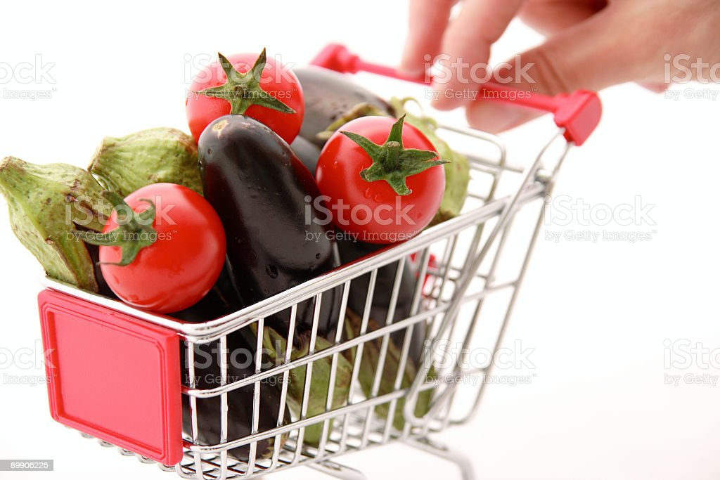 Miniature Shopping Cart royalty free stockfoto