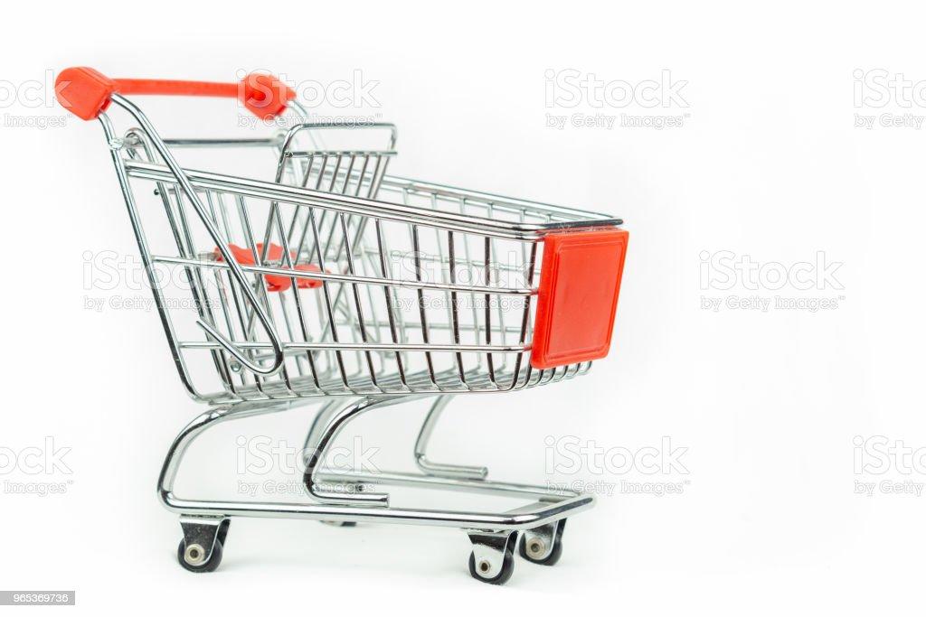Miniature shopping cart royalty-free stock photo