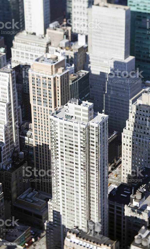 miniature skyscrapers royalty-free stock photo