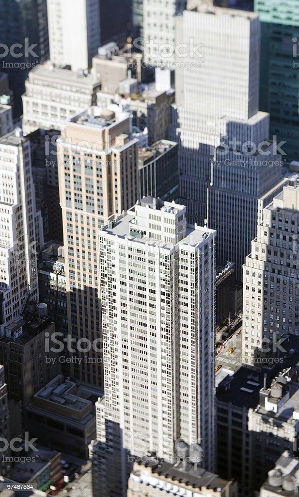 miniature skyscrapers stock photo