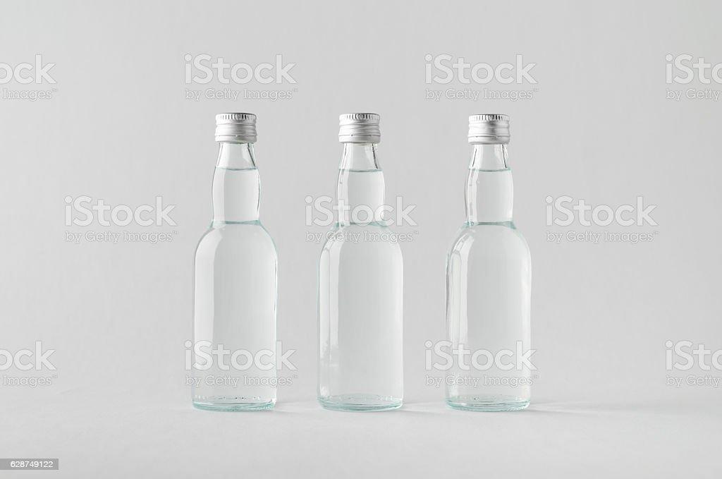 Miniature Spirits/Liquour Bottle Mock-Up - Three Bottles - Photo