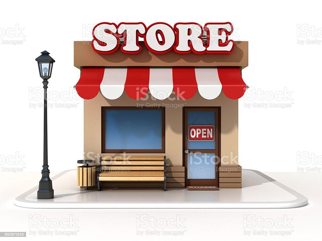 miniature store 3d illustration stock photo