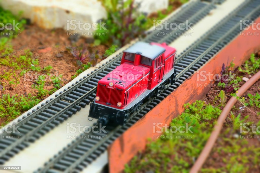Miniature Toy Train Stock Photo & More Pictures of Childhood