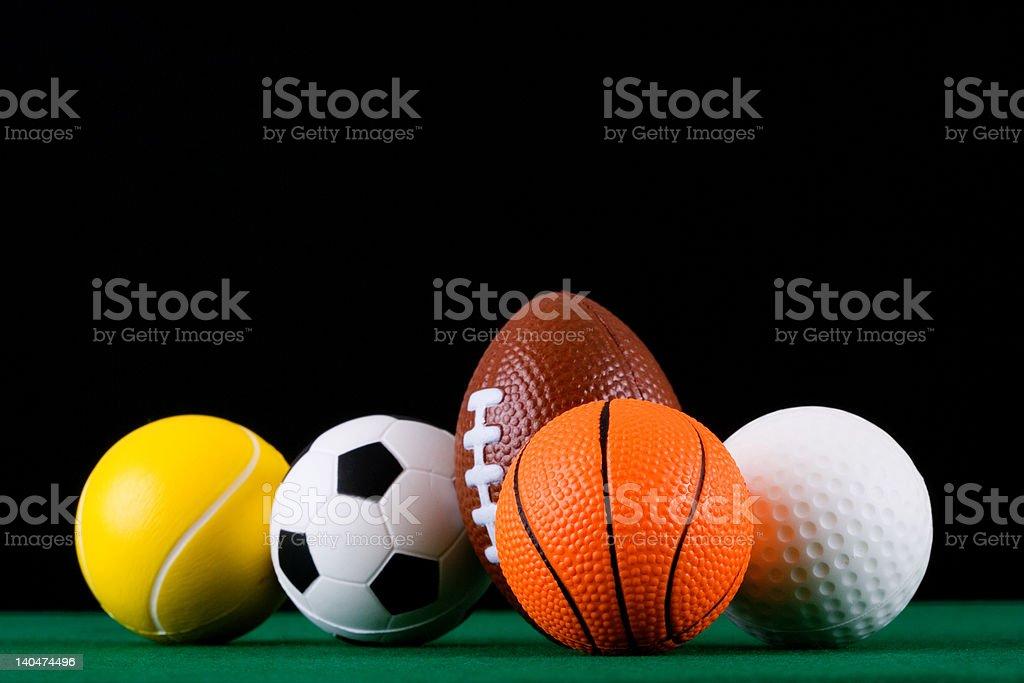Miniaturized_sport_balls_02 royalty-free stock photo