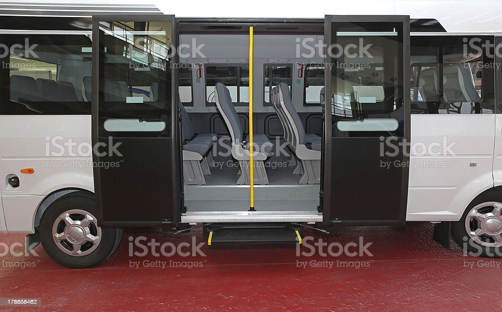 Minibus door stock photo