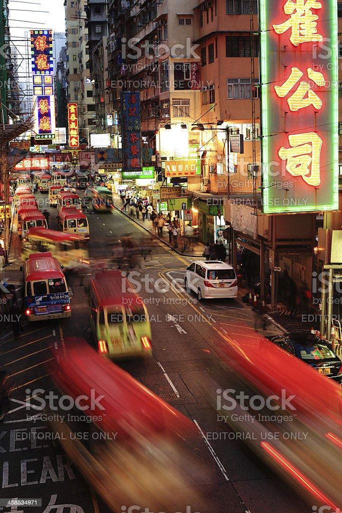 Minibus in Kowloon Hong Kong royalty-free stock photo