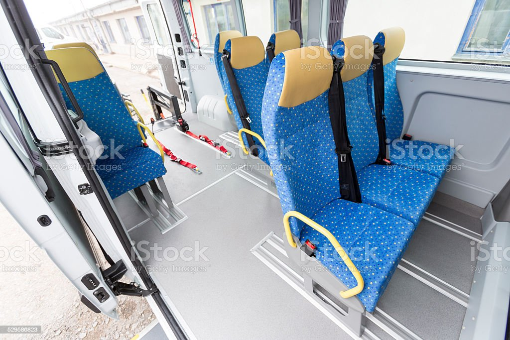 Minibus physically disabled stock photo