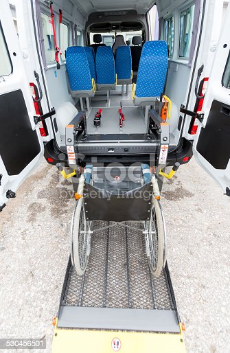 466456685 istock photo Minibus physically disabled 530456501