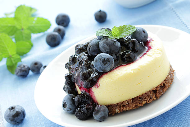 Mini-cheesecake stock photo