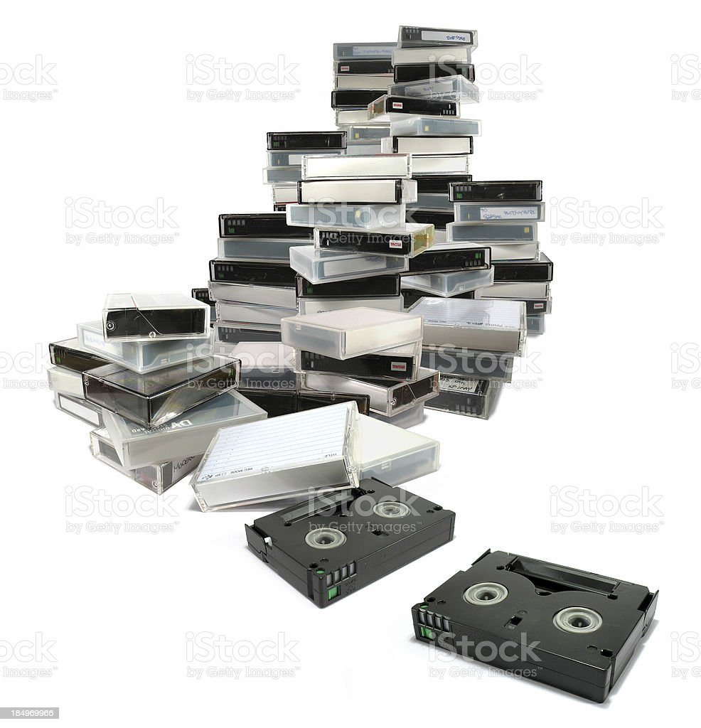 MiniDV LargeStack stock photo