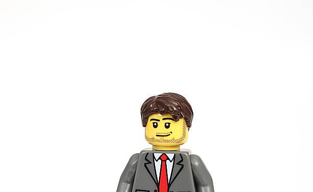 Minifigure Man stock photo