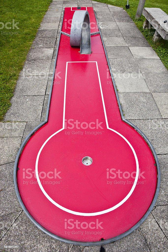Minigolf stock photo