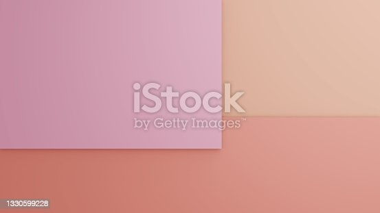 istock Minimal 3D illustrations formed by layers of different colors 1330599228