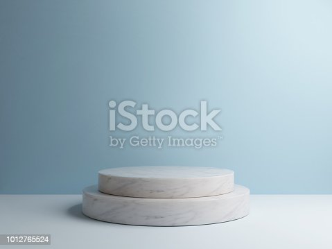 istock Minimal abstract background, 3d shape rendering composition 1012765524