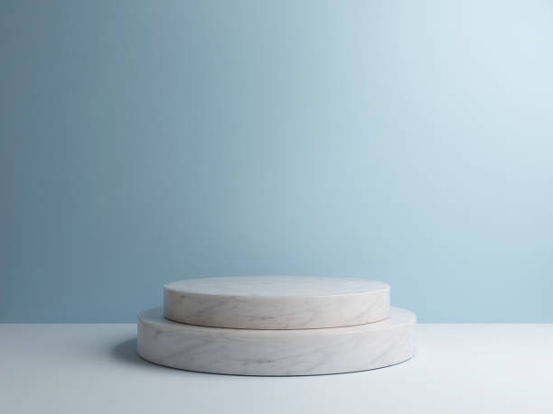 Minimaler abstrakten Hintergrund, Form Rendering 3D-Komposition – Foto