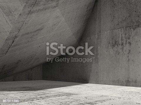 istock Minimal architecture background, 3d render 957311390