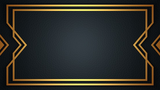 Card template with linear border. Style of the 1920s. 3D rendering