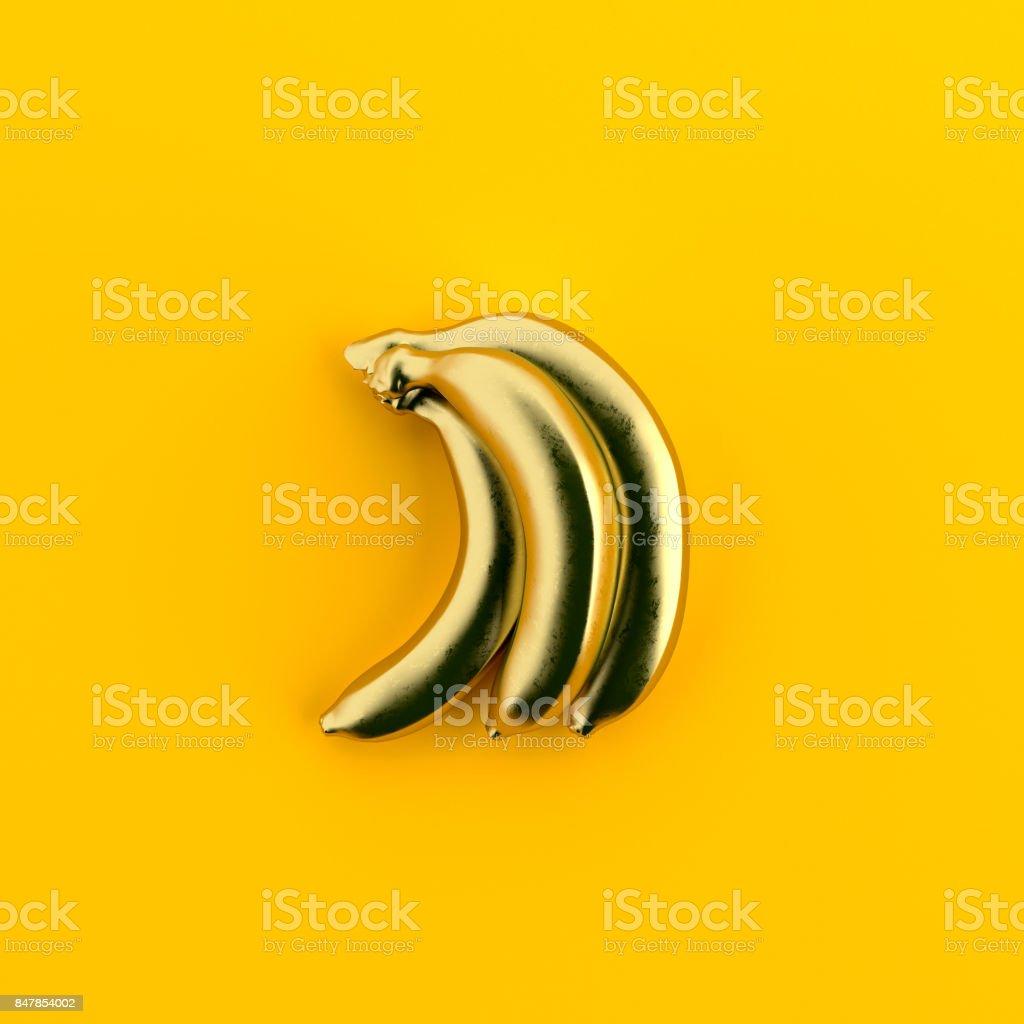 Minimal bananas stock photo