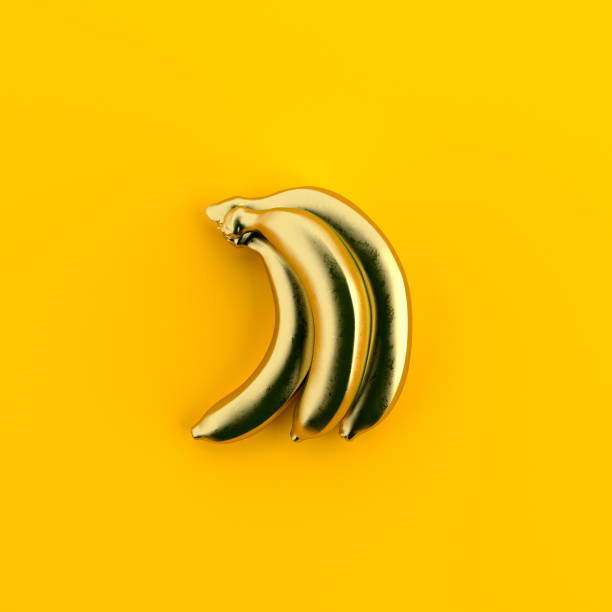 minimal bananas - pop art stock photos and pictures