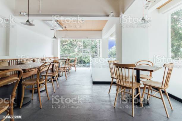 Minimal bread cafe decorating with white wall and wooden chairs warm picture id1063776368?b=1&k=6&m=1063776368&s=612x612&h=2eq odo 6u7xvzn2kua35upmocxcxizglfuf2ohzyve=