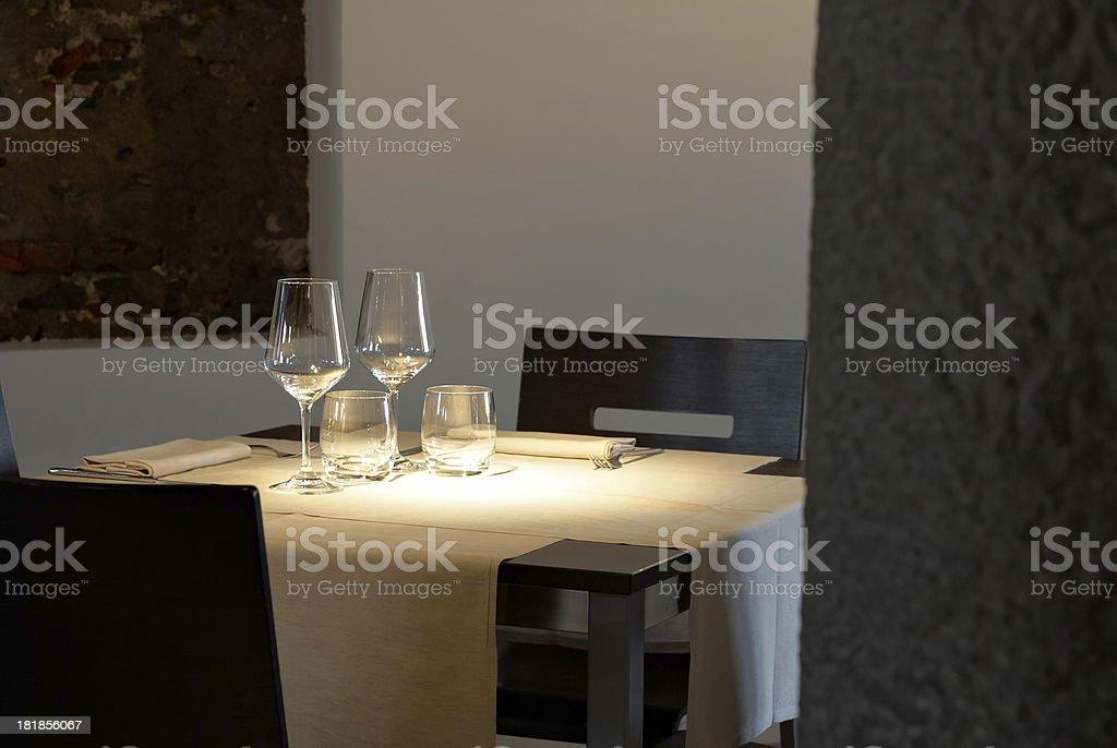 Minimal Dining Set stock photo