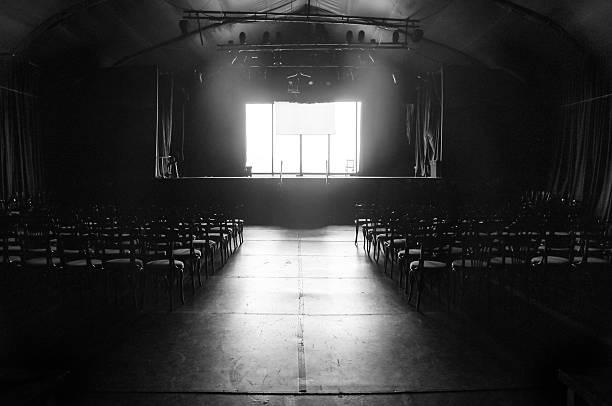 Mínima teatro vacío en vlack y blanco - foto de stock