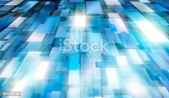 istock Minimal futuristic corporate tech background 931203166