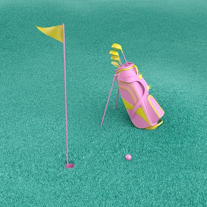 istock Minimal golf game concept. 1164690111
