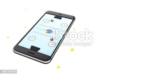 istock Minimal hockey table white background design image 952193374